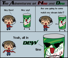 Neo and Dew comic by CheesyChan