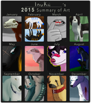 2015 art summary by InuKii