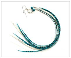 Nyanza - Long Feather Earrings by doodle-moose