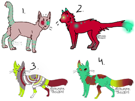 10 point Cat Adopts: open by FuneralDyingheart