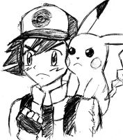 Ash and Pikachu by Genzo-chan