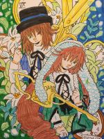 Rozen Maiden: Twins, Suiseiseki and Souseiski by GhibliLover92