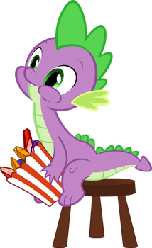 Spike having a Snack. by Chisella1412