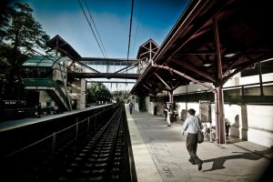 Waiting for the train... by MrBlueSky1987