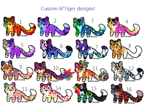 LilTiger Custom Designs (closed) by Kainaa