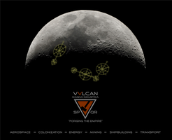 Vulcan Heavy Industries - Moon Colony Ad by RocketmanTan