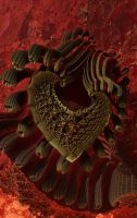 Knitting machine hearts by hmn