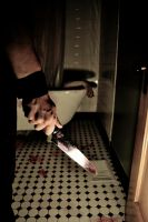 Bathroom Crime Scene by x1thed9x
