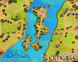 The River Town Sterngate by MindoftheMasons