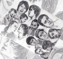 A Study on Male Faces by angelvi