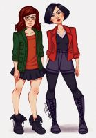 Daria and Jane by Wowiie