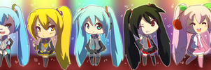Miku + Lookalikes by RockuSocku
