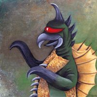 Monster portrait: Gigan by Zwerg-im-Bikini