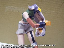 Papercraft FF7 Yuffie hands+gauntlet test build by ninjatoespapercraft