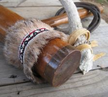 Bobcat Autumn Fur Cuff by TarpanBeadworks