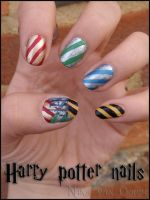 Harry Potter nails by JawsOfKita-LoveHim