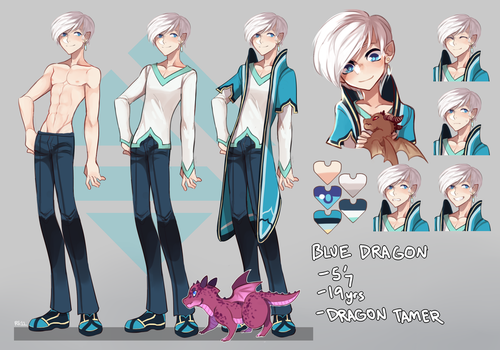 Blue Dragon Ref by re-11