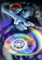 Sonic Rainboom by Tailzkipzigona