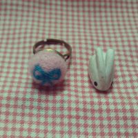 wool felt ring by pearl7052