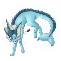Reine the Vaporeon by Luteshi