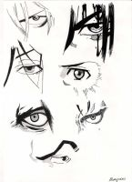 Male characters' manga eyes by Marivel87