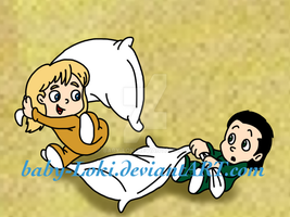 Pillow Fight! by Baby-Loki