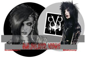 Andy Biersack BVB Soldier Signature by MornaStar