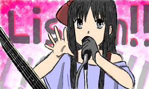 K-on Listen Mio by TofuOtaku