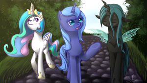 [request] Walking in the park by sparkling-feather