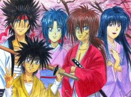 Himura Kenshin And His Friend by eve1789
