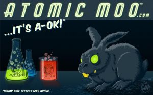 Atomic Moo Wallpaper: A-OK by AtomicMoo