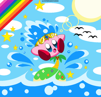 :Kirby: Water - Summer Ocean by SuperMarioFan888