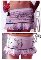 Hello Kitty Skirt by love-on-a-stick