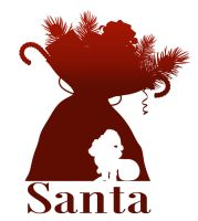 Santa Silhouette by 4and4