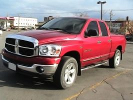 Truck- Red Dodge with Chrome by SweetSoulSister