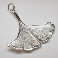 sterling silver ginkgo biloba by nellyvansee