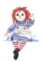 raggedy ann by Angelina-Artist
