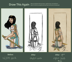 Draw This Again - Egyptian vs Lost Heart by by-MK