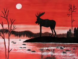 Hiiden hirvi - The devil's moose by Wolverica