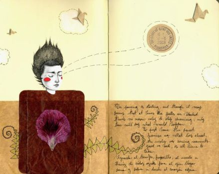 moleskine travel1 - journal by LadyOrlandoArt