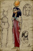 Hathor Character Design by JillJohansen