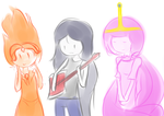 Adventure Time Girls doodle by netnavi20x5