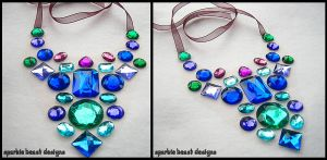 Blue-Green Purple Necklace by Natalie526