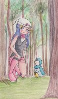 Dawn and Piplup by DeesDilemma