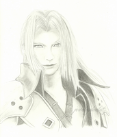 Sephiroth (sketch) by jewelryduelist