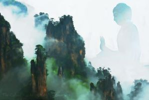 The Collosal Buddha Of Huangshan by that-3-guy
