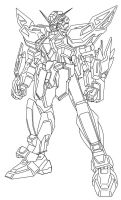 Full Unamed Gundam Lineart by Nightwing03