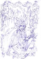 Lady of the Wood - wip by BlackRamm