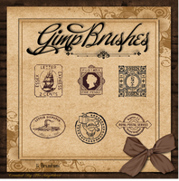 GIMP Brushes | Stamp Brushes by TheAngeldove