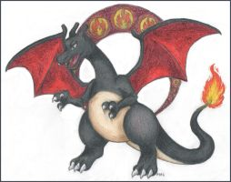 Shiny Charizard by sbslink